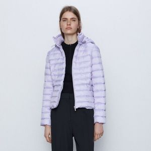 Zara lightweight Puffer Lavender Jacket